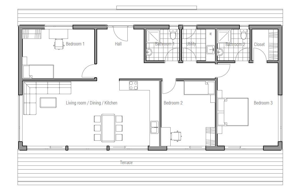 Small House CH   F  M  B  House Plan   view  House PlanJPG house designs   house plan ch  jpg house designs  CH  F   jpg