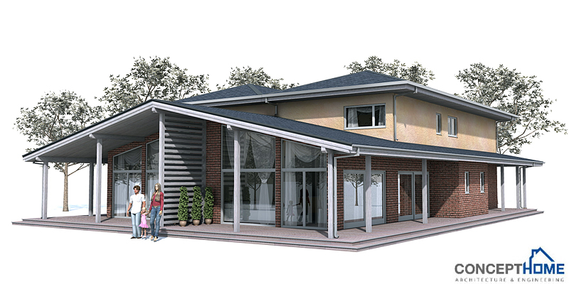 Duplex House Oz83d Duplex House Plan With Four Bedrooms: narrow lot duplex