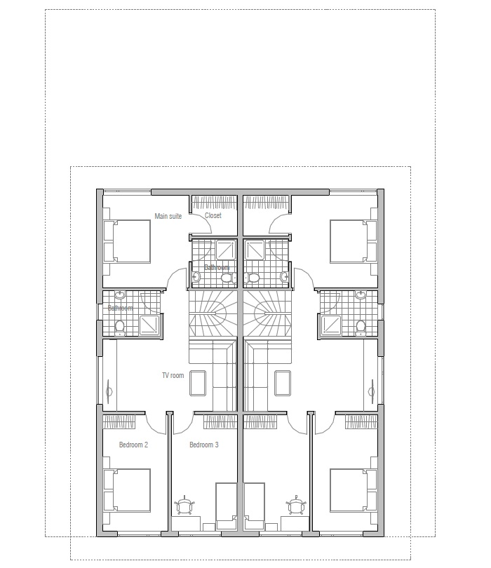 Duplex House Oz83d Duplex House Plan With Four Bedrooms