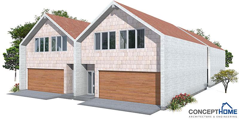 house design semi-detached-house-plan-ch108d 5
