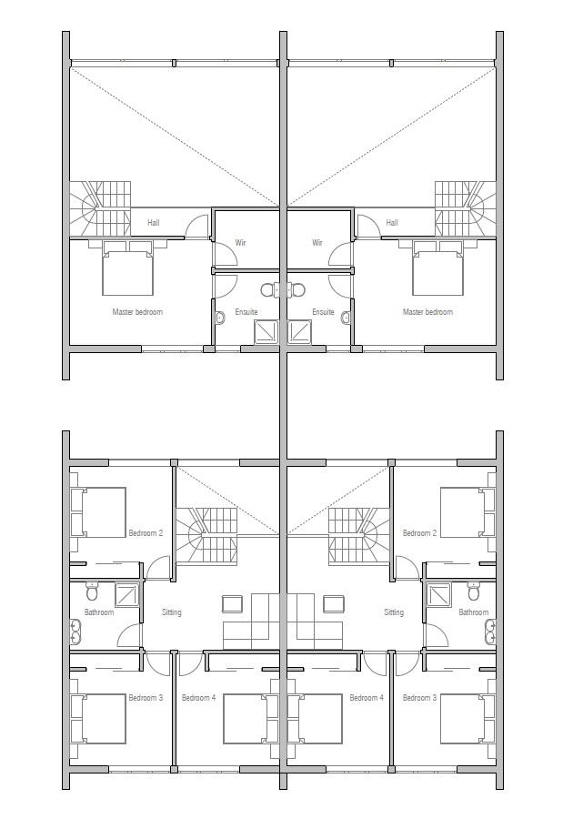 house design semi-detached-house-plan-ch108d 12
