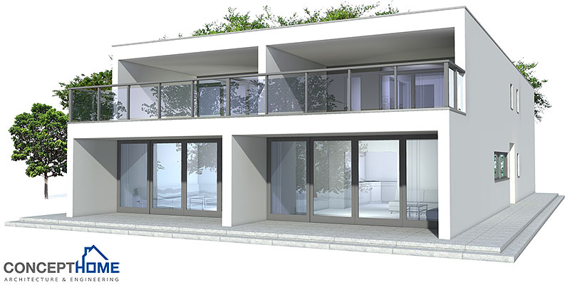 Duplex House CO83D 2 In Contemporary Architecture Plan