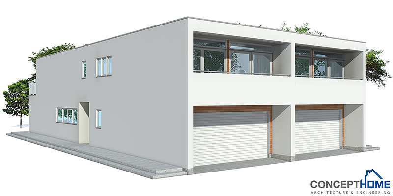 Duplex House CO83D 2 in contemporary architecture House Plan