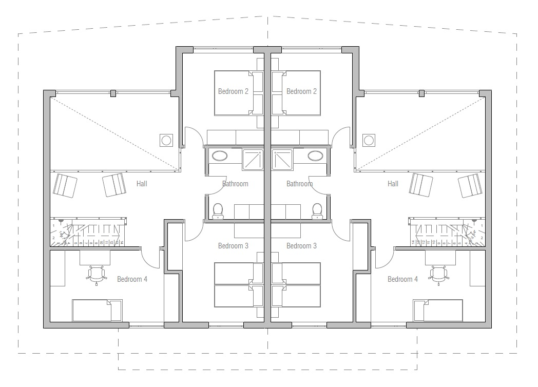 house design semi-detached-house-plan-ch9d 11
