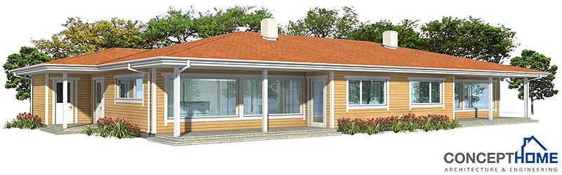 house design Semi-detached-house-plan-ch118d 1