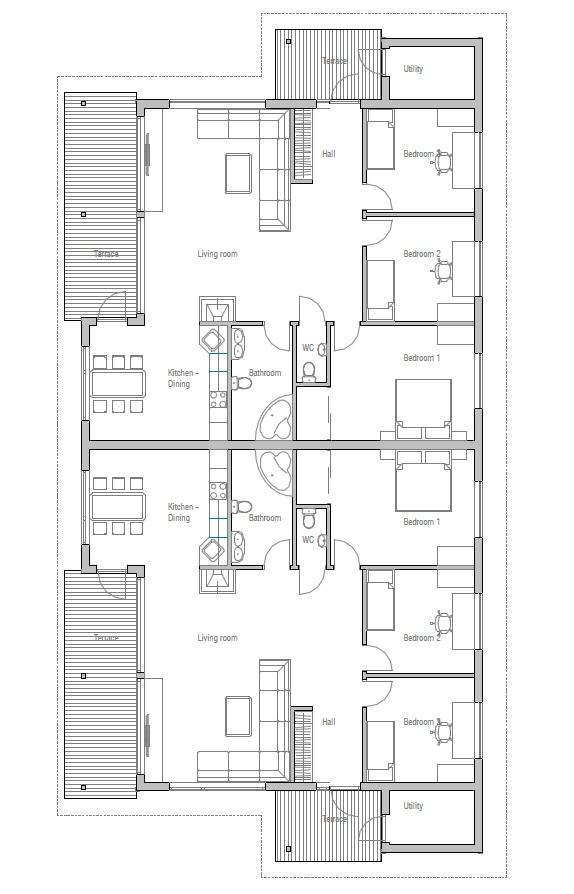 house design Semi-detached-house-plan-ch118d 20