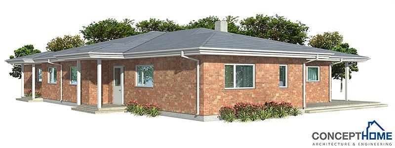 house design semi-detached-house-plan-CH121D 4