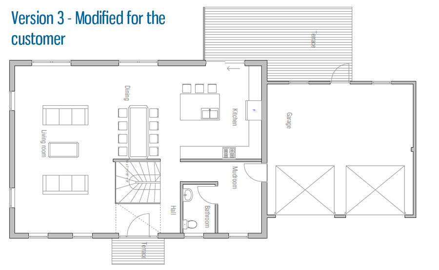 Small house ch150 small house plan with four bedrooms for Small colonial home plans