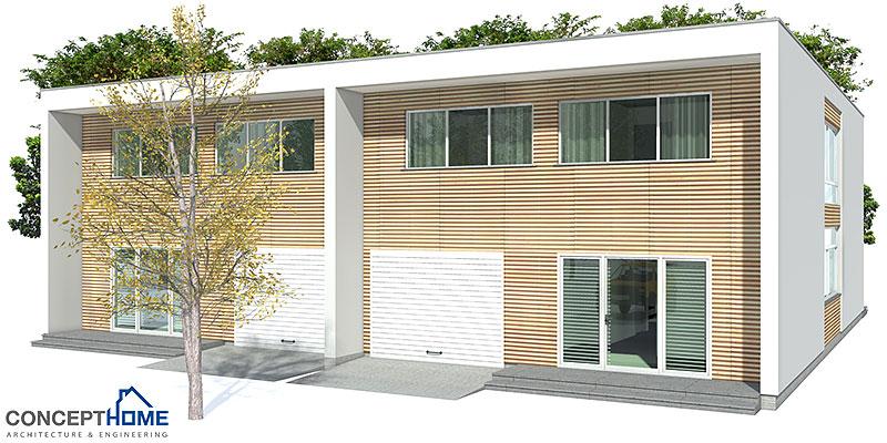 house design modern-duplex-house-plan-ch159 3