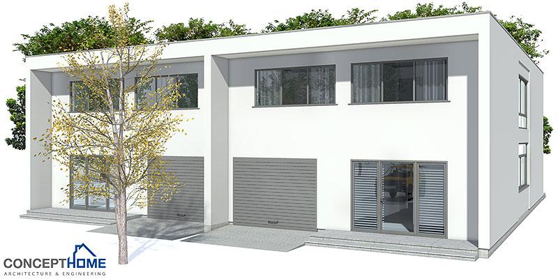 Duplex house plan ch159d in modern architecture house plan for Detached duplex designs