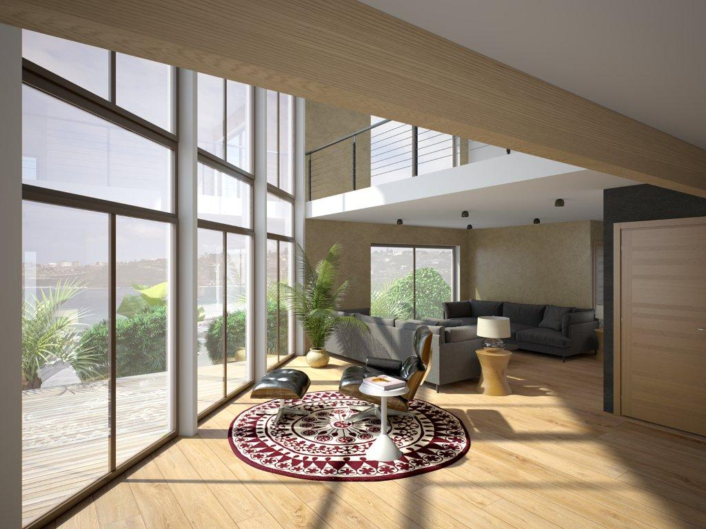 Duplex House Ch160d In Contemporary Architecture House Plan