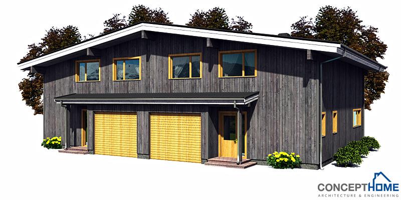 Duplex house plan ch158d modern architecture house plan for Cheap duplex plans