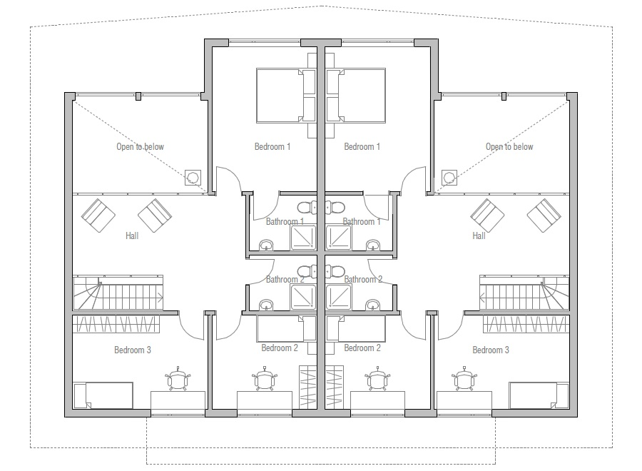 Simple Duplex House Plans Joy Studio Design Gallery