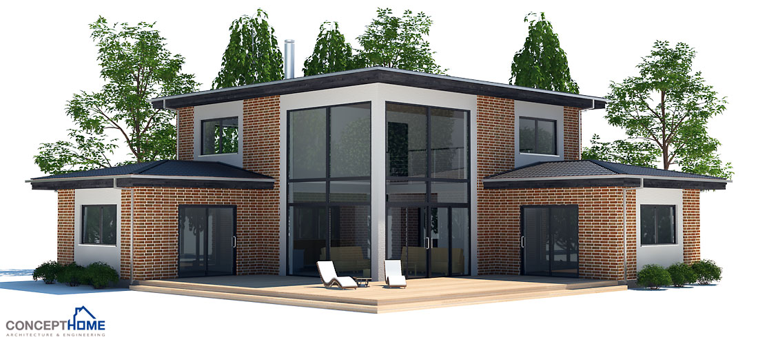 Modern Small House CH18 - 2F/166M/3B. House Plan with three bedrooms.