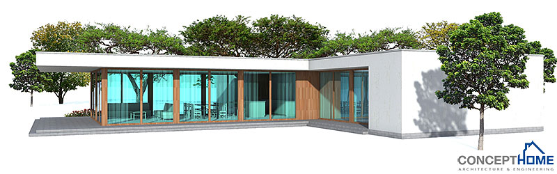 Contemporary House Ch164 1f 181m 3b House Plan With