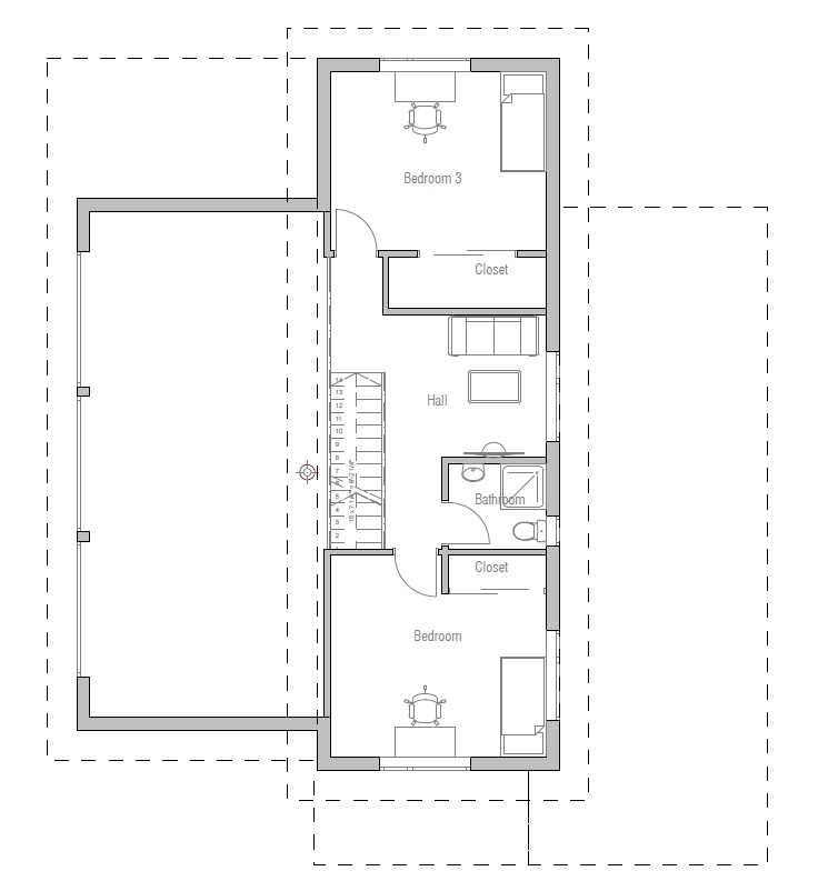 Small house plan ch51 small home floor plans and images for Very small home plans