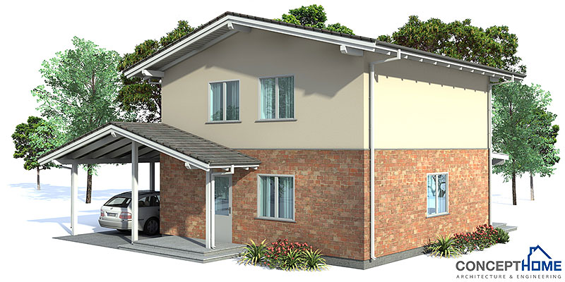 Small house plan oz43 with affordable building budget for Affordable house plans with cost to build