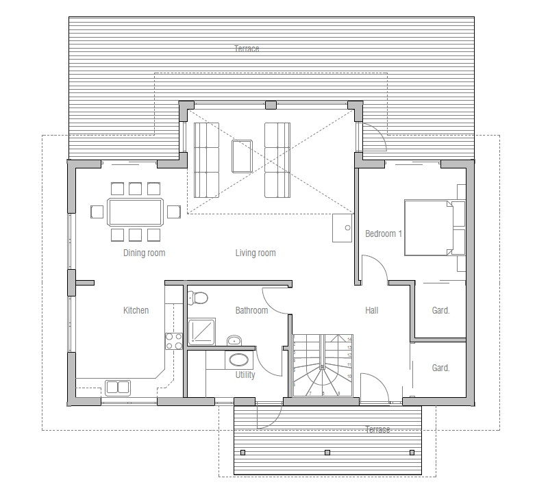 Small House Plan Ch6 To Tiny Lot With Affordable Building