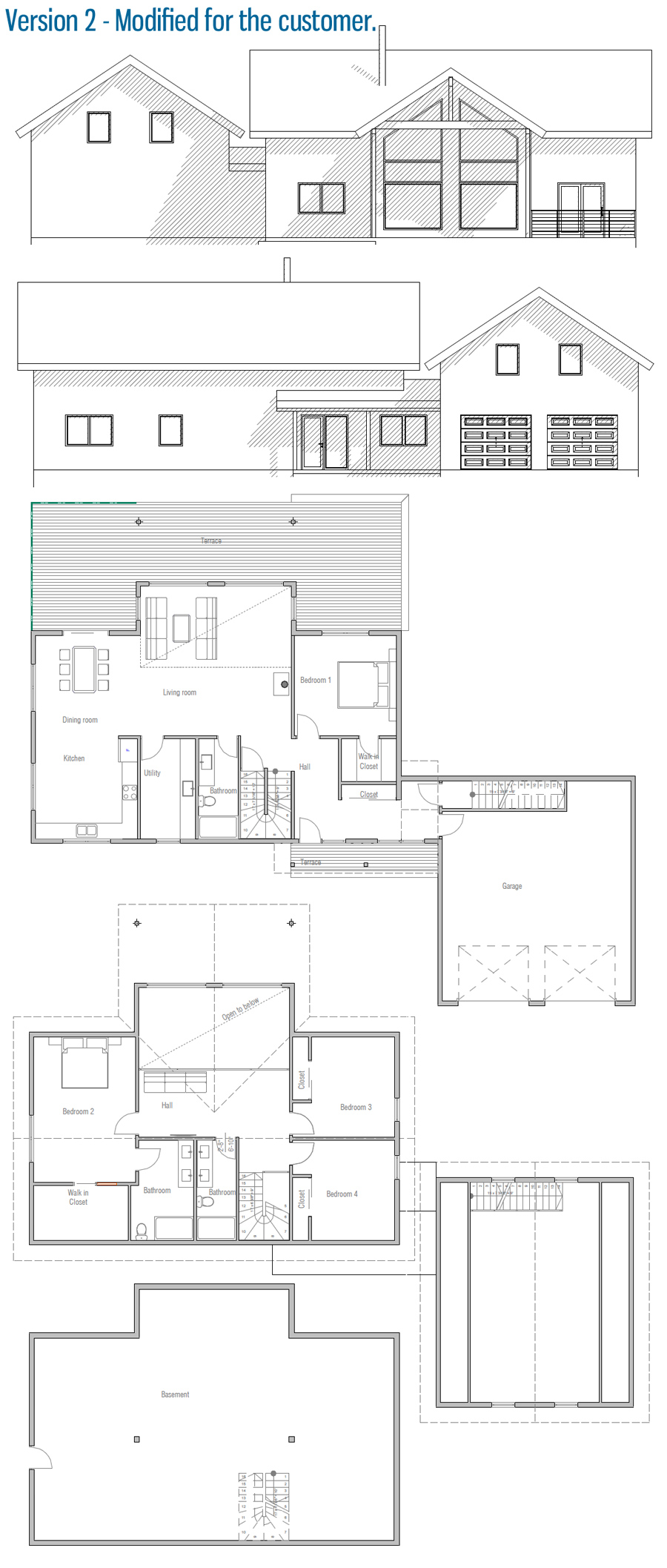 Small house plan ch6 to tiny lot with affordable building for Small affordable house plans