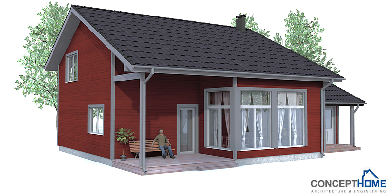 Small house plan ch92 with affordable building price and for Small home construction plans