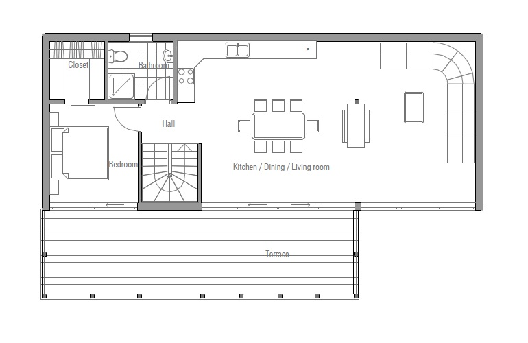 Small House Plan Ch69 Detailed Floor Plans House Plan