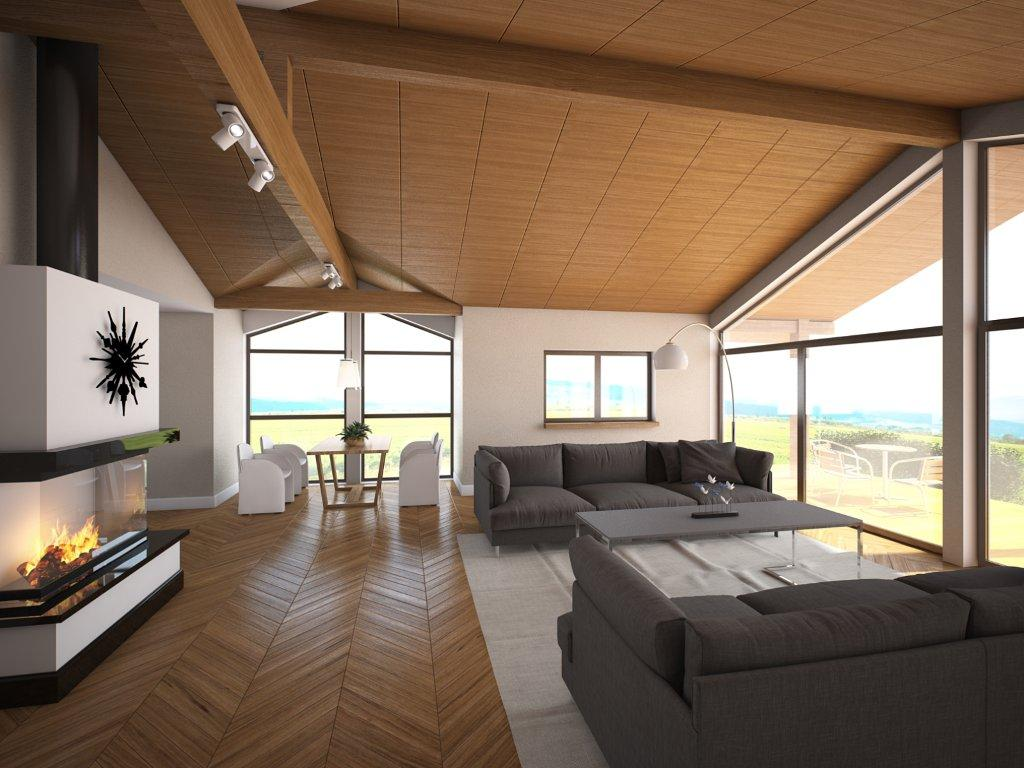 Small House Plan Ch146 With Vaulted Ceiling And Three