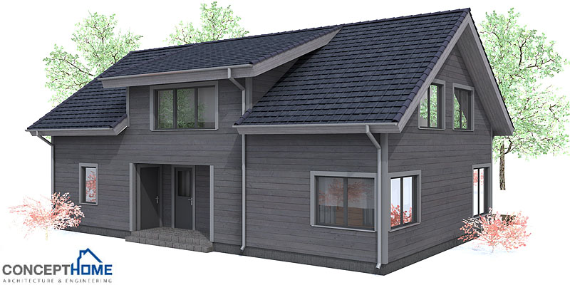 Wonderful Small House Plan Ch91 Design With Simple Shapes
