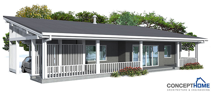 Small house plan ch23 detailed building info floor plans Build a new house for 100 000