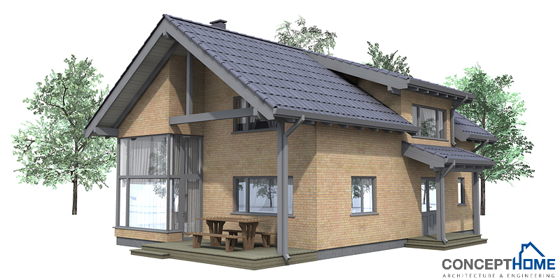 Small house plan ch42 house plan to tiny lot house plan for High efficiency home plans