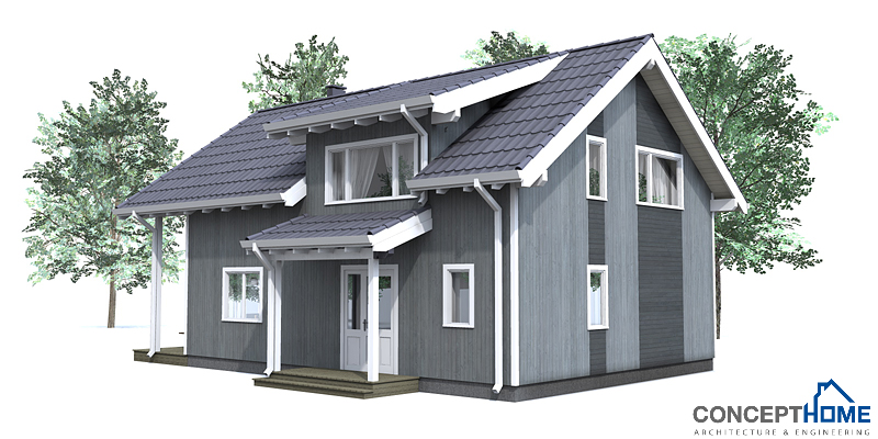 Small House Plan Ch42 House Plan To Tiny Lot House Plan