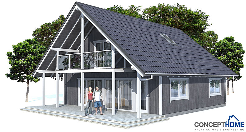 Small house plan ch45 home design with affordable building Affordable house plans with cost to build