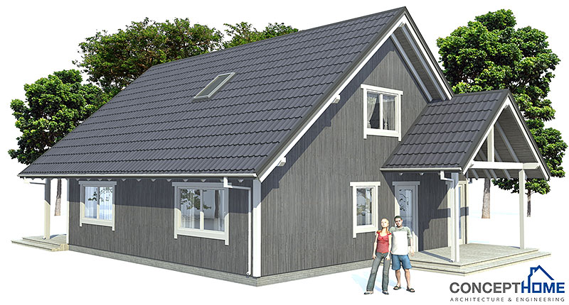 Small house plan ch45 home design with affordable building for Affordable house plans to build
