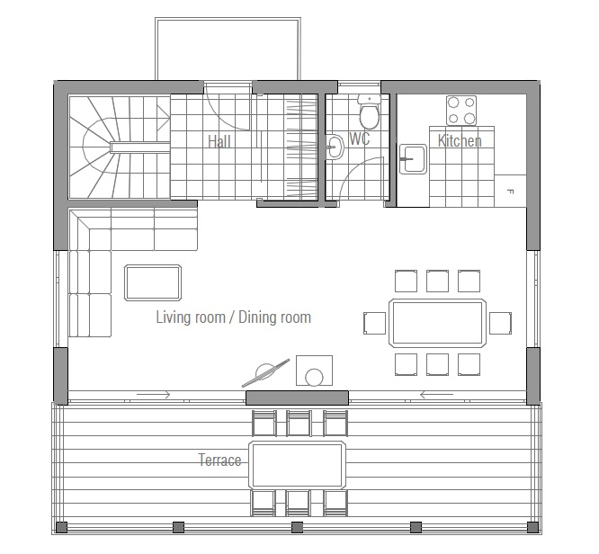 Tiny Houses Little Lots Floor Plans For Very Small: Small House Plan CH59 Design To Small Lot With Three