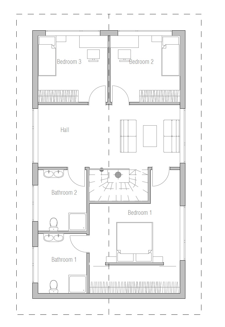Small House Plan Ch68 With Detailed Floor Layouts And