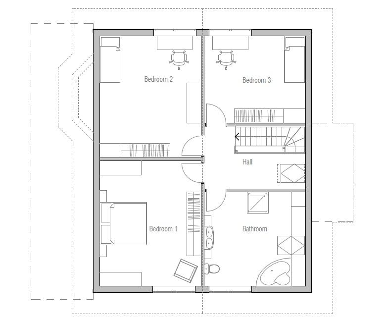 Small house plan ch38 detailed building model and floor Small building plan
