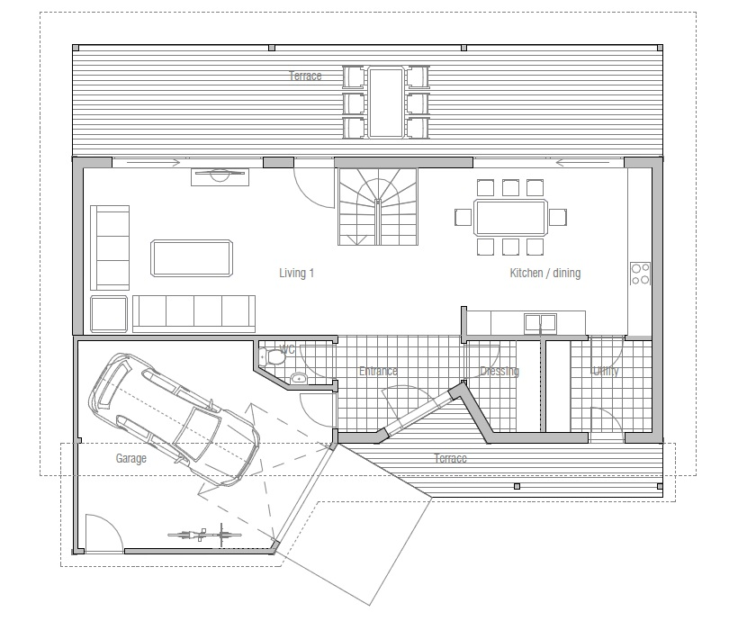 Small house ch95 design images floor plans house plan for Affordable garage plans