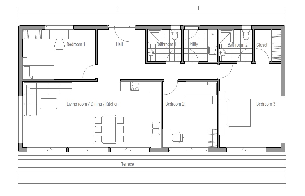 Small House plan CH64, small home floor plans & images ... on narrow lot cabin plans, 30 by 30 house plans, hot tub house plans, small lot house plans, long narrow house plans, narrow waterfront home plans, narrow lot floor plan, narrow lot cottage plans, modern narrow house plans, narrow lakefront house plans, deck house plans, simple one story house floor plans, narrow house plans with front garage, narrow lot homes, mountain cabin house plans, narrow coastal house plans, shallow lot house plans, narrow lot apartment plans, low country beach house plans, narrow lot townhouse plans,