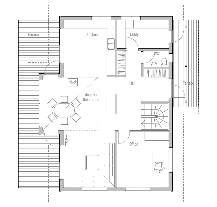 Small house ch19 with affordable building budget house plan for Small affordable house plans