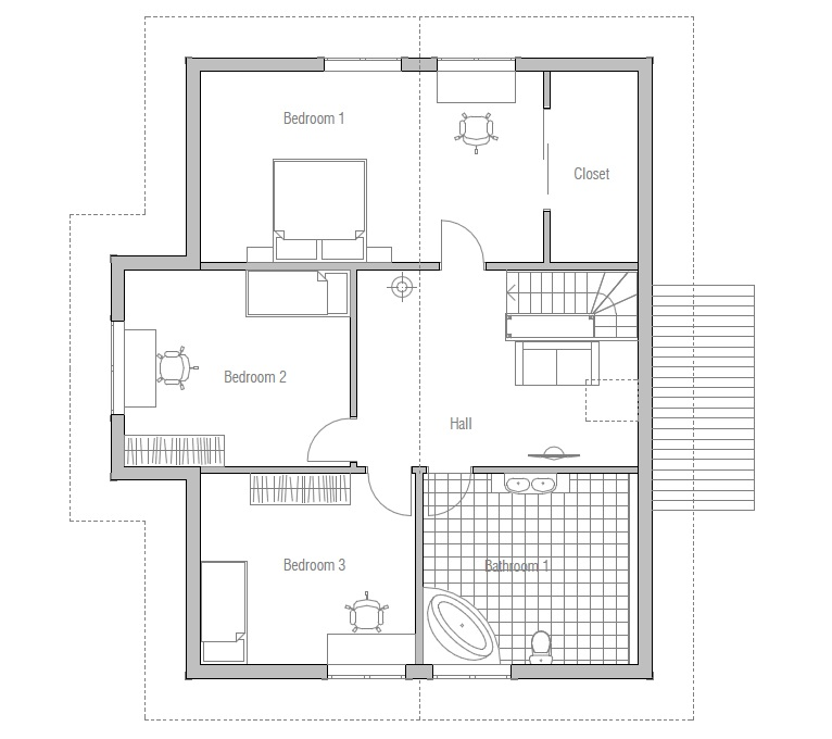 Small house plan CH   simple floor layout  House PlanHouse Plan CH
