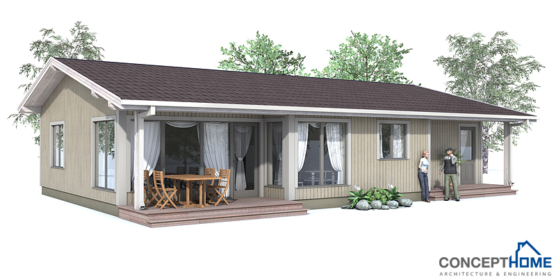 Small house plan ch63 in classical architecture small Low cost home plans to build