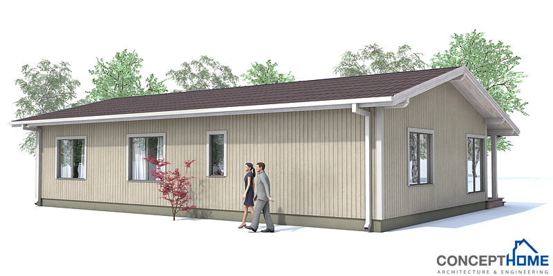 Small House Plan CH63 in classical architecture. Small home design ...