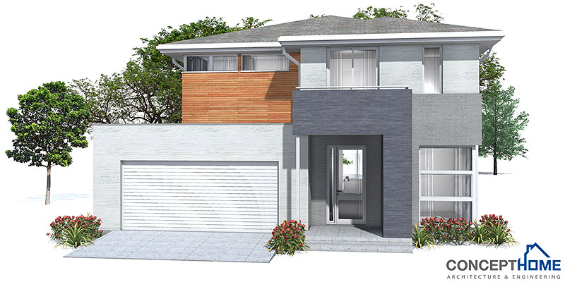 Modern house plan with nice exterior facade house plan for Affordable house decor