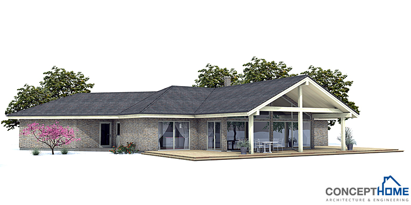 Modern house ch130 with vaulted ceiling house plan for Concept home plans review