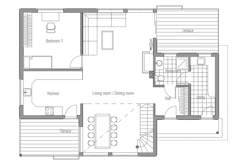 Affordable home ch92 floor plans and house images house plan for Small affordable house plans