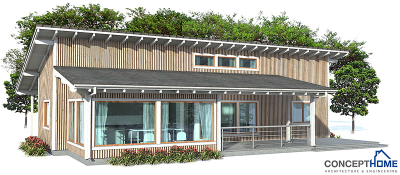 Modern House Ch47 With Three Bedrooms House Plan
