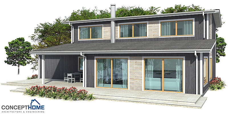 Modern House CH153 Affordable To Build House Plan