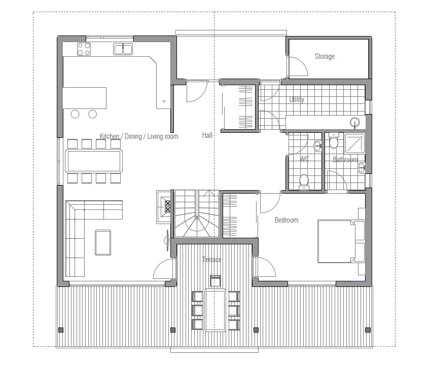 Modern House CH   four bedrooms  House PlanJPG modern houses    CH  F   house plan jpg