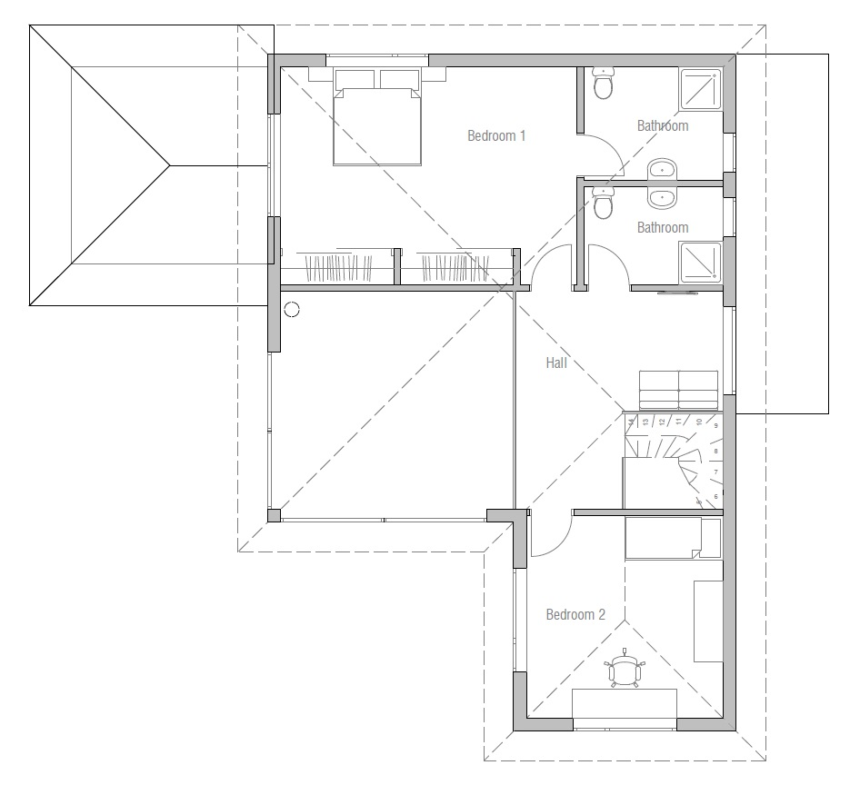 Modern house ch17 with detailed floor plans house plan for Detailed house plans