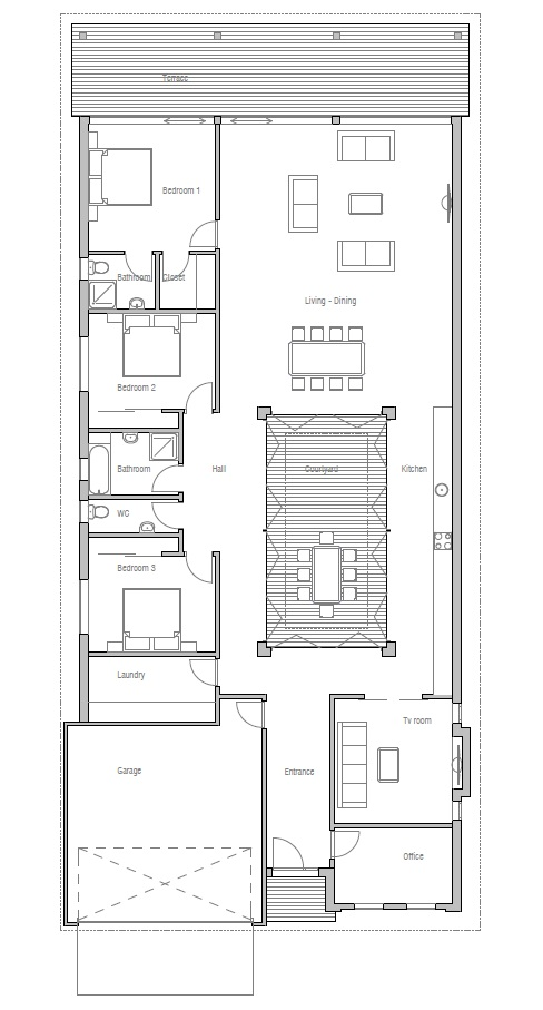 Narrow modern house plans escortsea Narrow modern house plans