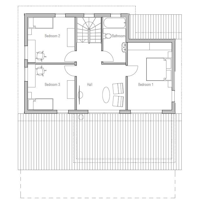 Modern House CH127 floor plans House Plan